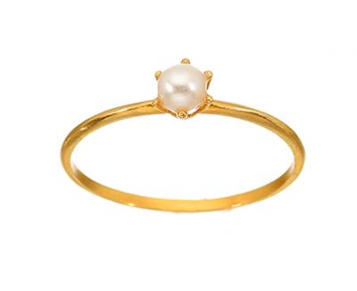Δαχτυλίδι από χρυσό 14 καρατίων και μαργαριτάρι - Δημιουργίες Θεοδώρα 121a9306000