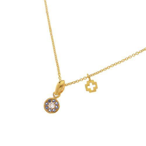 Κολιέ Ματάκι-Σταυρουδάκι από επιχρυσωμένο ασήμι και ζιργκόν - Δημιουργίες  Θεοδώρα f71ec25fe00